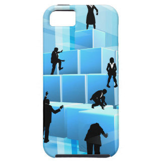 Building Blocks Business Team People Silhouettes iPhone 5 Cases