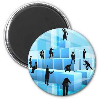 Building Blocks Business Team People Silhouettes Magnet