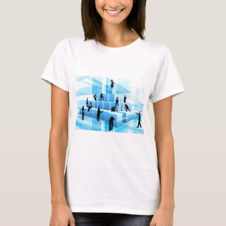 Building Blocks Business Team People Silhouettes T-Shirt