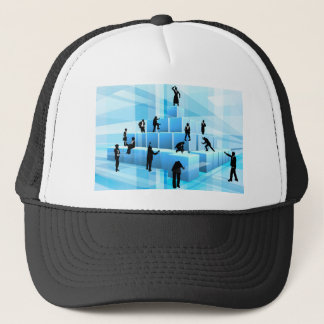 Building Blocks Business Team People Silhouettes Trucker Hat