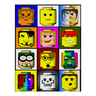 Building Blocks Heads poster