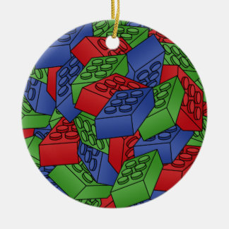Building Blocks Illustration - SINGLE-SIDED Ceramic Ornament