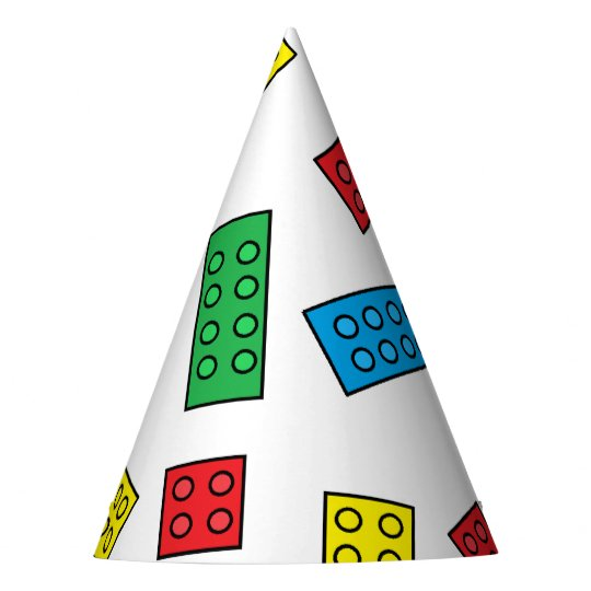 """Building Blocks"" Party Hats"