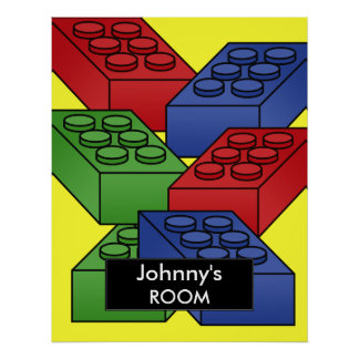 Building blocks Poster For a Kid's Room