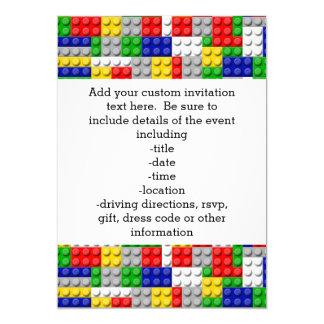 Building Blocks Primary Color Boy's Birthday/Party Card