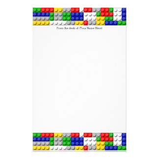 Building Blocks Primary Color Boy's Birthday/Party Personalized Stationery