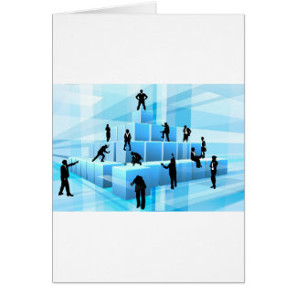 Building Blocks Silhouette Business Team People Card