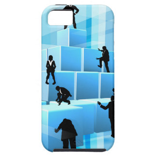 Building Blocks Silhouette Business Team People Case For The iPhone 5