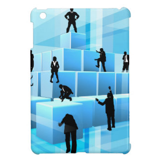 Building Blocks Silhouette Business Team People iPad Mini Case
