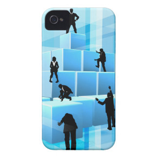 Building Blocks Silhouette Business Team People iPhone 4 Case-Mate Cases