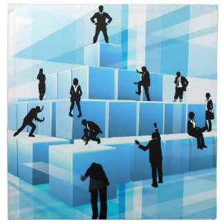 Building Blocks Silhouette Business Team People Napkin