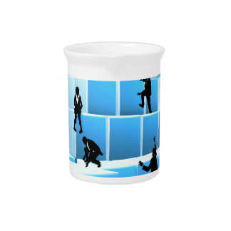 Building Blocks Silhouette Business Team People Pitcher