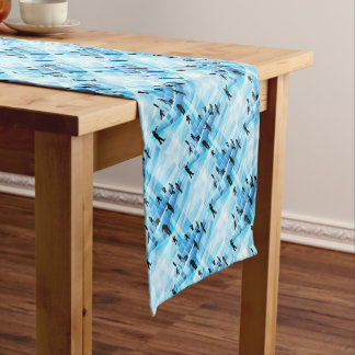 Building Blocks Silhouette Business Team People Short Table Runner