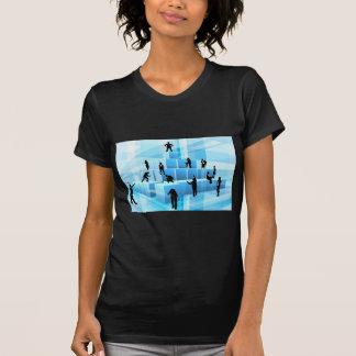Building Blocks Silhouette Business Team People T-Shirt