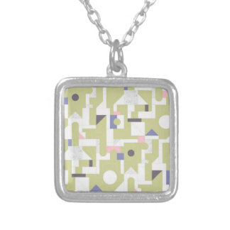 Building Blocks Silver Plated Necklace