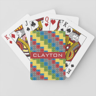Building bricks custom name playing cards