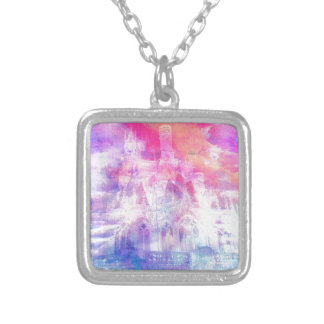 BUILDING CASTLES IN THE SKY 1 SILVER PLATED NECKLACE
