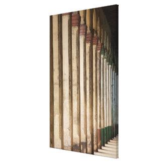 Building columns, Havana, Cuba Canvas Print