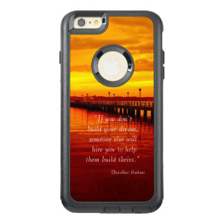 Building dream hope quote sunset background OtterBox iPhone 6/6s plus case