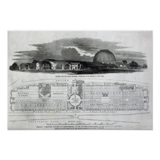 Building for the Great Industrial Exhibition Poster