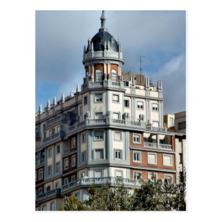 Building next to the Place of Spain of Madrid Postcard