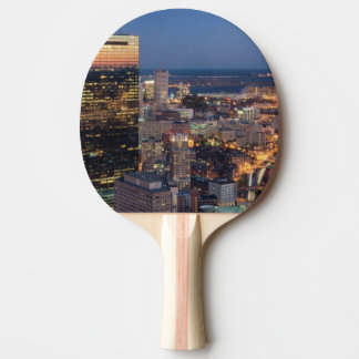 Building of Boston with light trails on road Ping-Pong Paddle