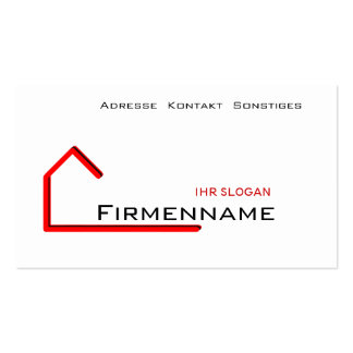Building of houses business card template