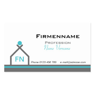 Building of houses pack of standard business cards