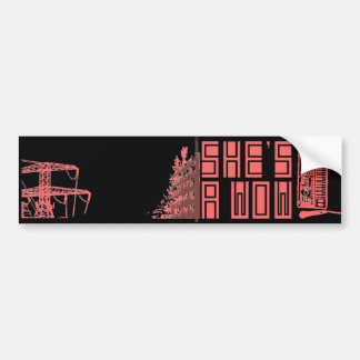 Building on Fire/Synth Bumper Sticker