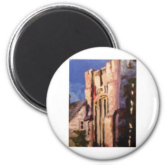 building painting 2 inch round magnet