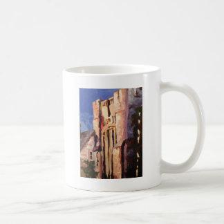 building painting coffee mug