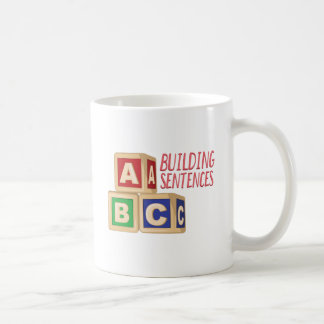 Building Sentences Coffee Mug