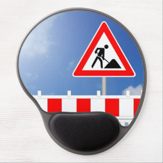 Building site, building site closing and building gel mouse pad