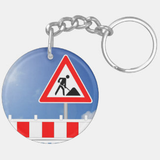 Building site, building site closing and building keychain