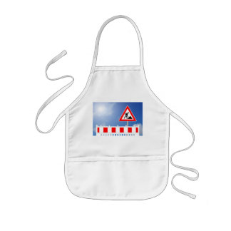 Building site, building site closing and building kids apron