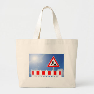 Building site, building site closing and building large tote bag