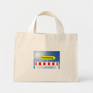 Building site, building site closing and building mini tote bag