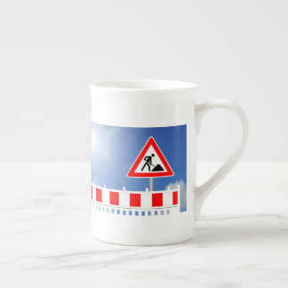 Building site, building site closing and building tea cup