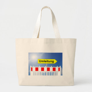 Building site, bypass and building site closing large tote bag