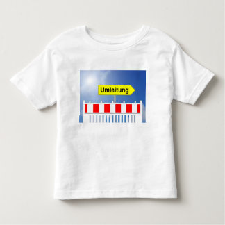 Building site, bypass and building site closing toddler t-shirt