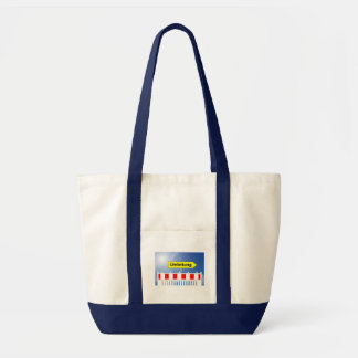 Building site, bypass and building site closing tote bag