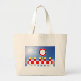 Building site closing and passage forbade Schil Large Tote Bag