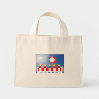 Building site closing and passage forbade Schil Mini Tote Bag