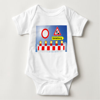 Building site passage forbade and bypass baby bodysuit