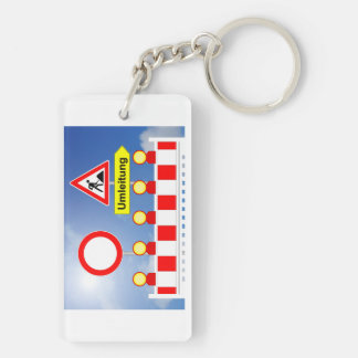 Building site passage forbade and bypass keychain