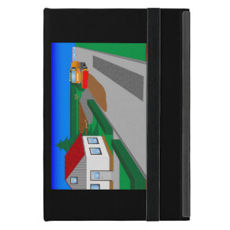 Building site with sweeping machine iPad mini cases