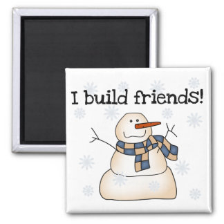 Building Snow Friends Tshirts and Gifts Magnet
