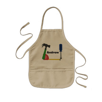 Building Tools Kids Apron