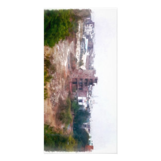 Building under construction photo card