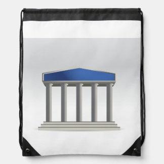 Building With Columns Drawstring Backpack